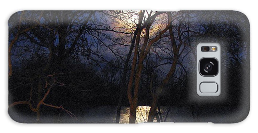 Photography Galaxy S8 Case featuring the photograph Early Morning Moon On Lake by J R  Seymour