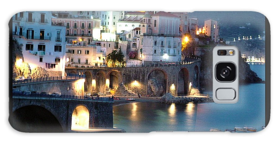 Horizontal Galaxy Case featuring the photograph Amalfi Coast At Night by Donna Corless