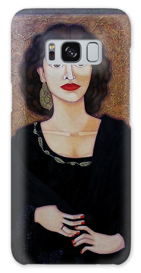 Portrait Galaxy S8 Case featuring the painting Amalia Rodrigues - Music Born In The Soul by Madalena Lobao-Tello