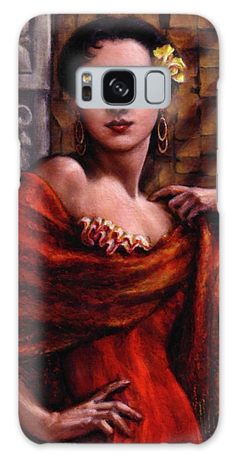 Occupy China Galaxy S8 Case featuring the painting Amarillo Rose by Jane Bucci
