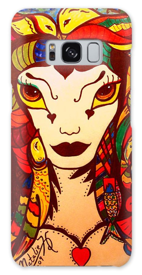 Fantasy Galaxy Case featuring the painting Amazon Queen by Natalie Holland