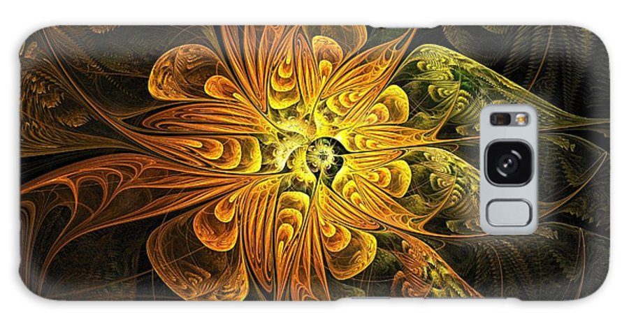 Digital Art Galaxy Case featuring the digital art Amber Light by Amanda Moore