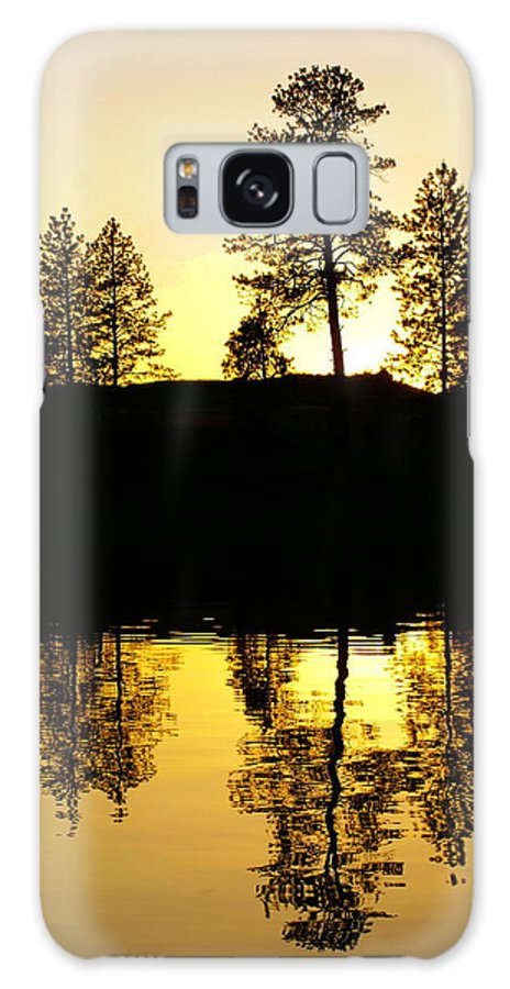 Nature Galaxy S8 Case featuring the photograph Amber Sunset by Ben Upham III