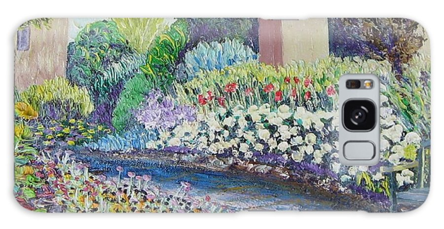 Flowers Galaxy Case featuring the painting Amelia Park Pathway by Richard Nowak