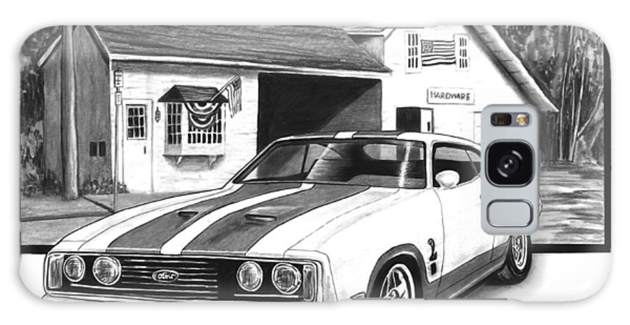 American Heartland 1978 Ford Cobra Galaxy S8 Case featuring the drawing American Heartland by Peter Piatt