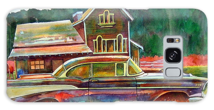 57 Chev Galaxy S8 Case featuring the painting American Heritage by Ron Morrison