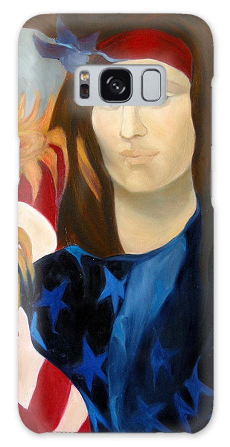 Figurative Galaxy S8 Case featuring the painting American Jokonda by Antoaneta Melnikova- Hillman