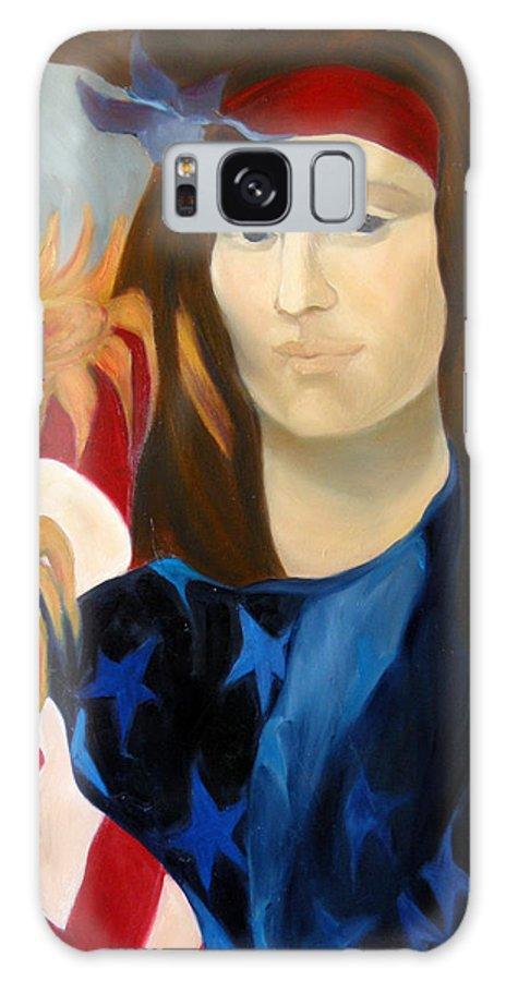 Figurative Galaxy S8 Case featuring the painting American Jokonda by Antoaneta Melnikova- Hillman