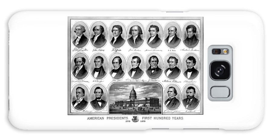 Us Presidents Galaxy S8 Case featuring the mixed media American Presidents First Hundred Years by War Is Hell Store