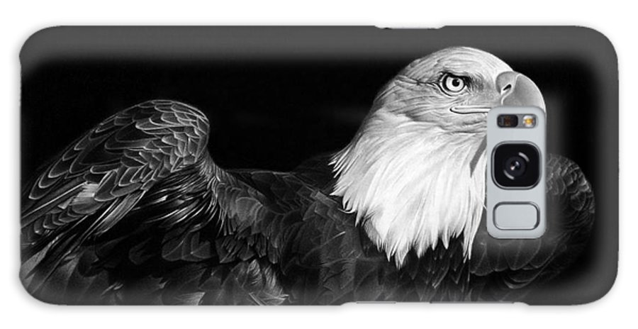 Bald Eagle Galaxy S8 Case featuring the drawing American Pride by Miro Gradinscak
