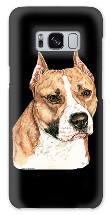 Pit Bull Galaxy Case featuring the drawing American Staffordshire Terrier by Kathleen Sepulveda