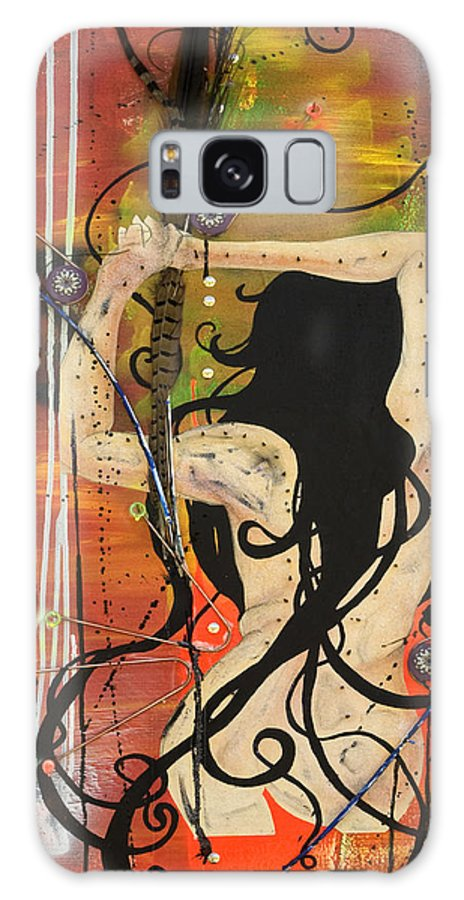 Woman Galaxy S8 Case featuring the painting American Witch by Sheridan Furrer
