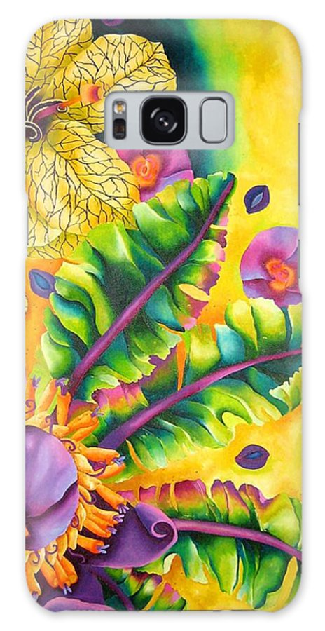 Flower Galaxy S8 Case featuring the painting Ametrine by Elizabeth Elequin