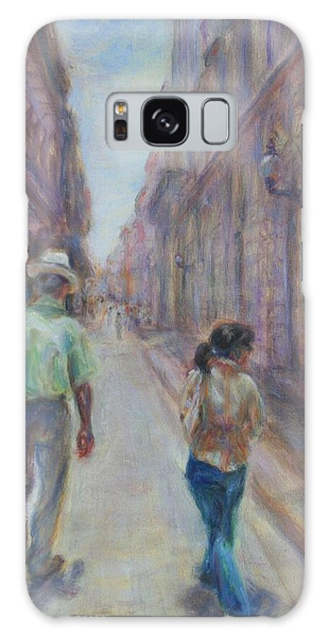 Quin Sweetman Galaxy S8 Case featuring the painting Amigos En Havana by Quin Sweetman