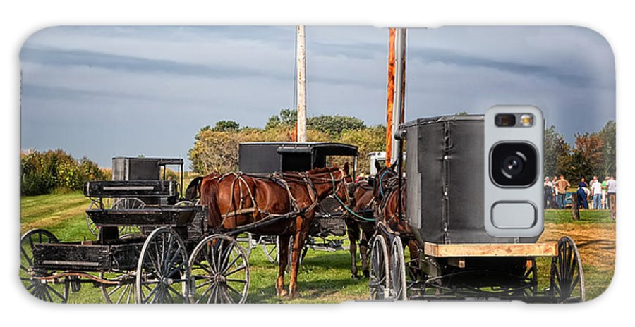Amish Galaxy S8 Case featuring the photograph Amish At The Auction by Al Mueller