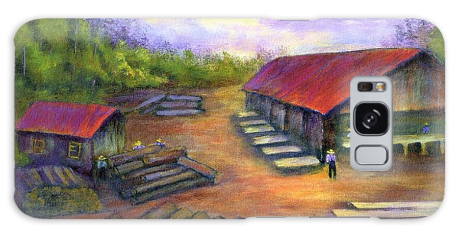 Amish Galaxy Case featuring the painting Amish Lumbermill by Gail Kirtz