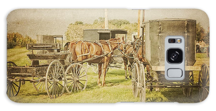 Amish Galaxy S8 Case featuring the photograph Amish Wagons by Al Mueller