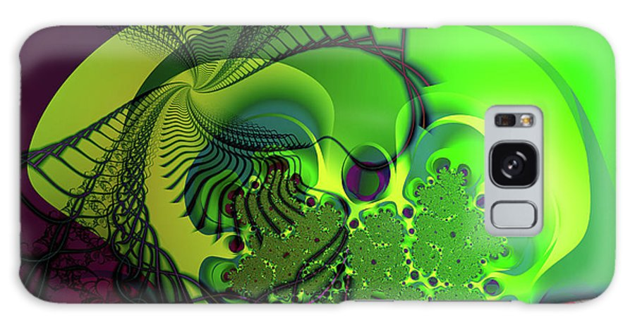 Fractal Galaxy Case featuring the digital art Amoeba by Frederic Durville