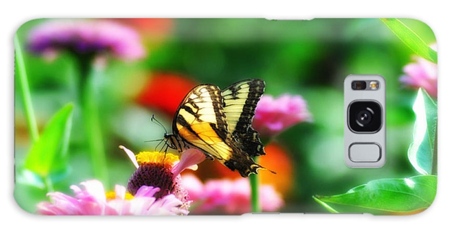 Butterfly Galaxy S8 Case featuring the photograph Amongst The Flowers by Bill Cannon