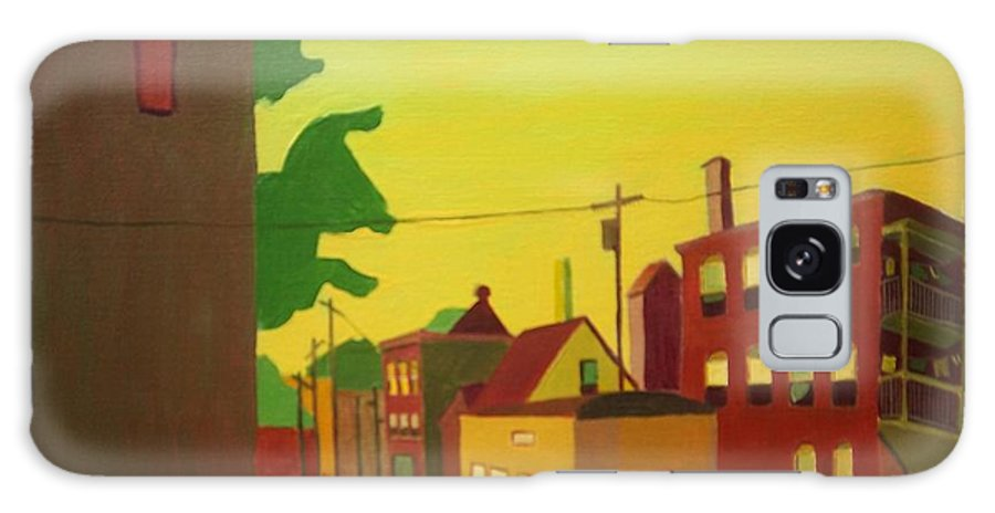 Jamaica Plain Galaxy S8 Case featuring the painting Amory Street Jamaica Plain by Debra Bretton Robinson