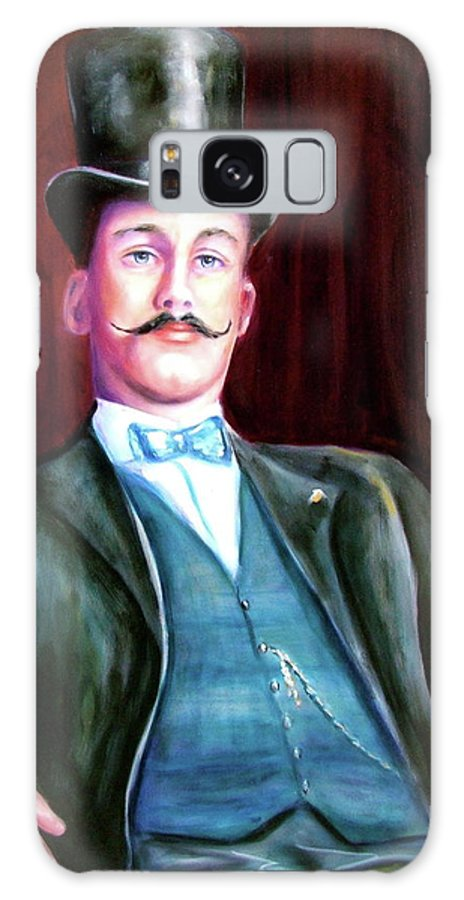 Portrait Galaxy Case featuring the painting Amos McKay by Shannon Grissom