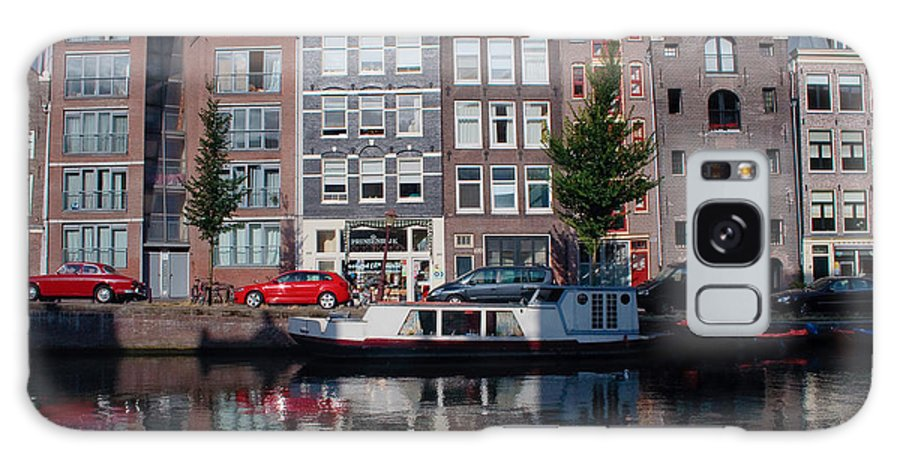 Amsterdam Galaxy S8 Case featuring the photograph Amsterdam Canal by Thomas Marchessault