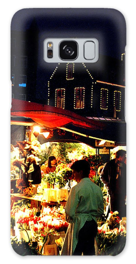 Flowers Galaxy Case featuring the photograph Amsterdam Flower Market by Nancy Mueller