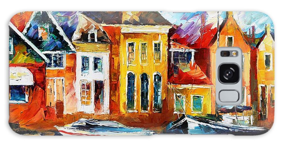Afremov Galaxy S8 Case featuring the painting Amsterdam by Leonid Afremov
