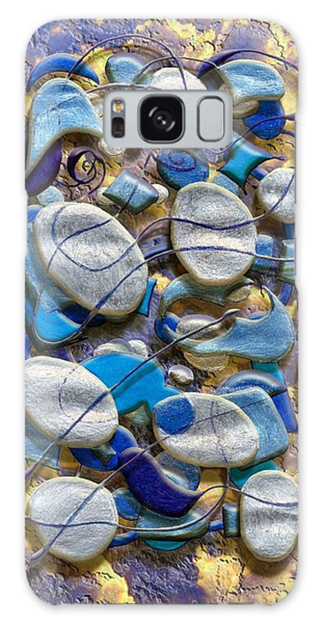 Abstract Galaxy S8 Case featuring the digital art An Arrangement Of Stones by Mark Sellers