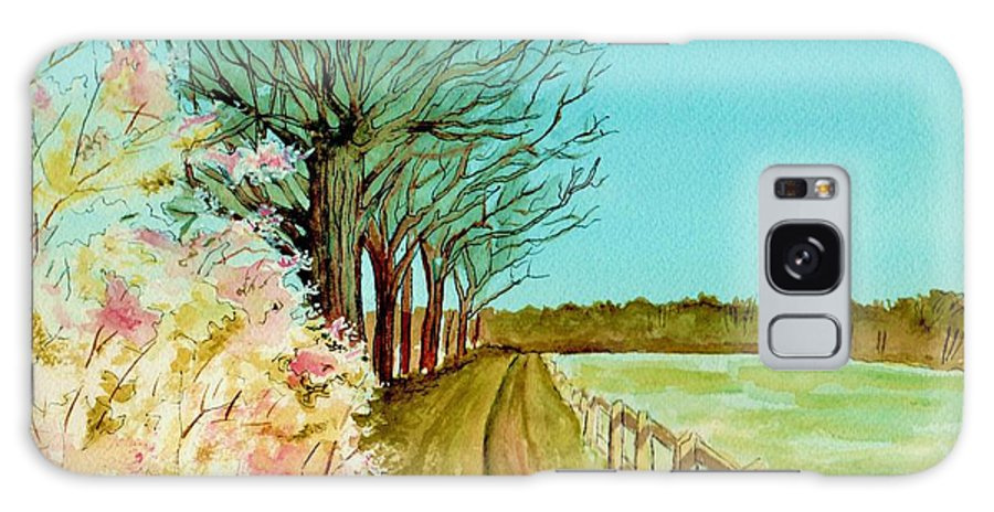 Landscape Galaxy S8 Case featuring the painting An English Footpath by Brenda Owen