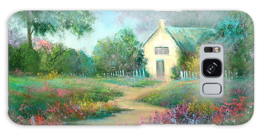 Cottage Galaxy S8 Case featuring the painting An English Walk by Sally Seago