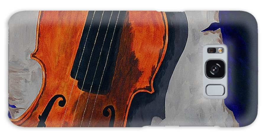 Violin Music Old Song Galaxy S8 Case featuring the painting An Old Song by Herschel Fall
