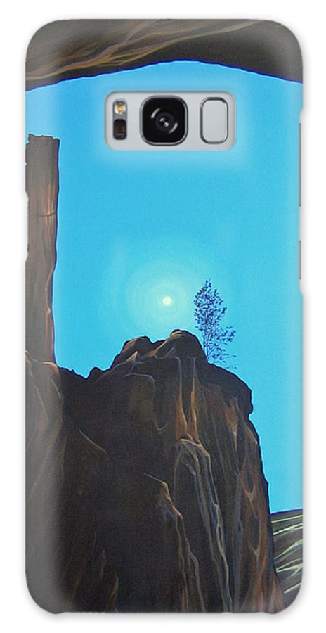 New Mexico Galaxy Case featuring the painting Anasazi Dreams by Hunter Jay