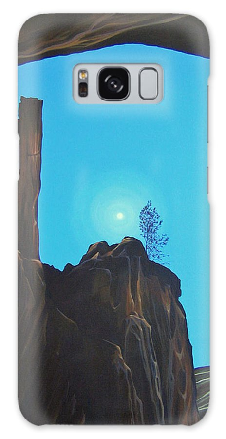 New Mexico Galaxy S8 Case featuring the painting Anasazi Dreams by Hunter Jay