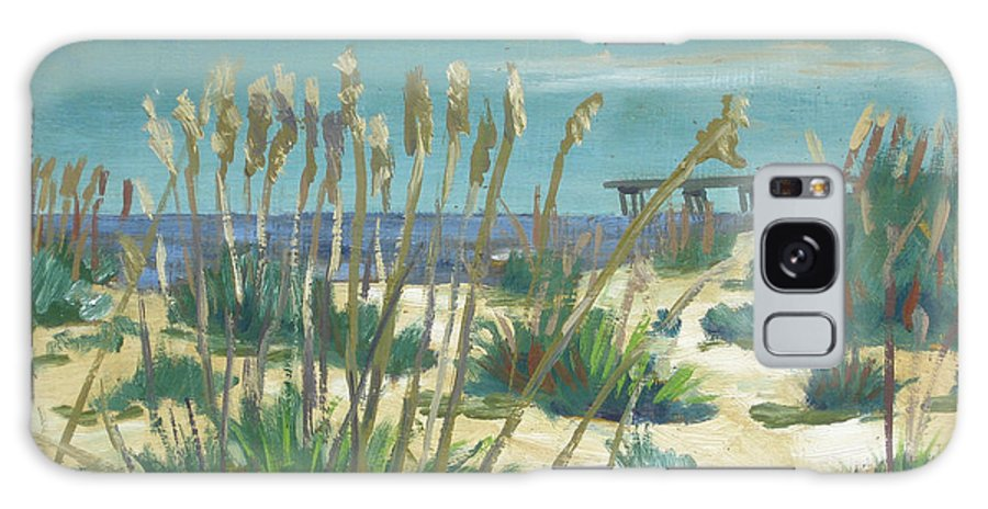 Beach Galaxy S8 Case featuring the painting Anastasia Island by D T LaVercombe