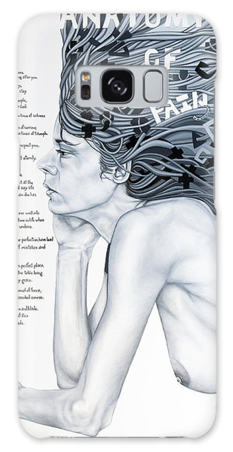 Poetry Galaxy S8 Case featuring the painting Anatomy Of Pain by Judy Henninger