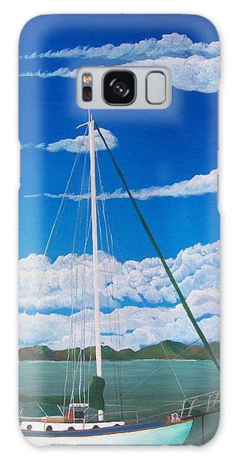Anchored Galaxy Case featuring the painting Anchored by Tony Rodriguez