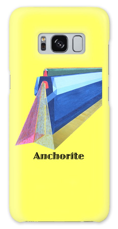 Painting Galaxy Case featuring the painting Anchorite -text by Michael Bellon
