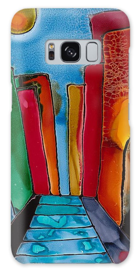 City Galaxy Case featuring the mixed media Ancient City by Susan Kubes