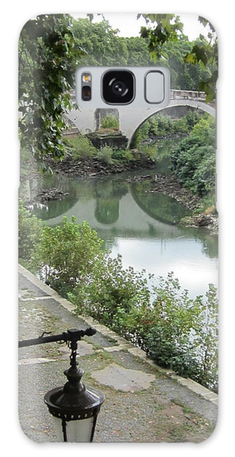 Rome Galaxy S8 Case featuring the painting Ancient Roman Foot Bridge by Joe Geare