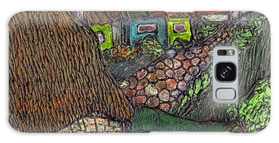 Ancient Village Galaxy Case featuring the painting Ancient Village by Wayne Potrafka