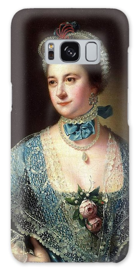 Joseph Wright (1734-1797) Portrait Of Mrs. Andrew Lindington Galaxy S8 Case featuring the painting Andrew Lindington by Joseph Wright
