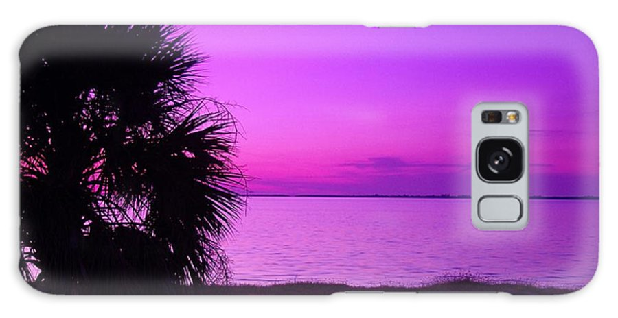 Sunset Galaxy S8 Case featuring the photograph Andtthen It Was Purple by Florene Welebny