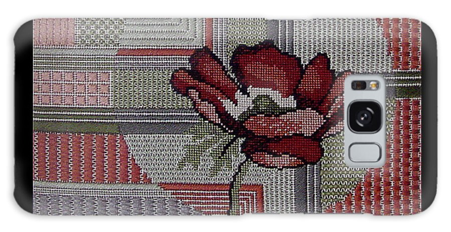 Thread Galaxy S8 Case featuring the tapestry - textile Anemonie by Shirley Heyn