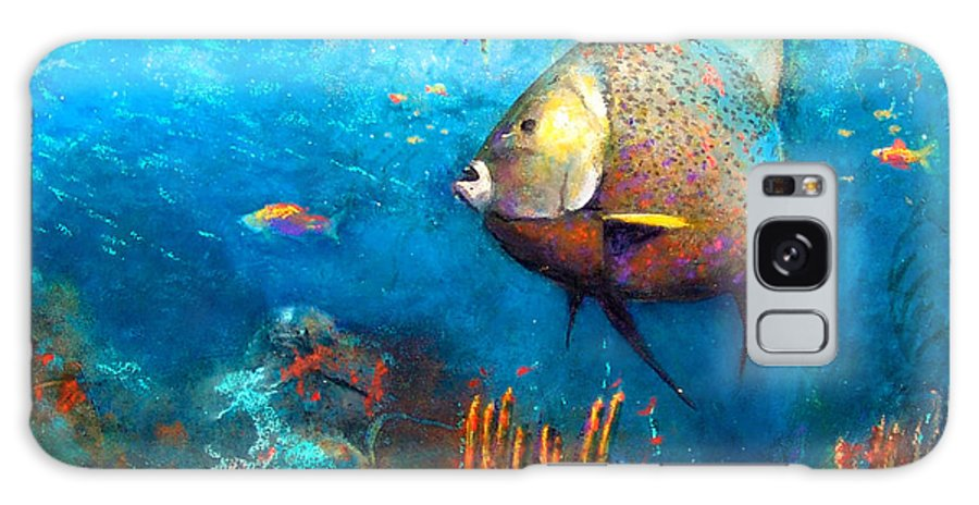 Ocean Galaxy S8 Case featuring the painting Angel Fish by Andrew King