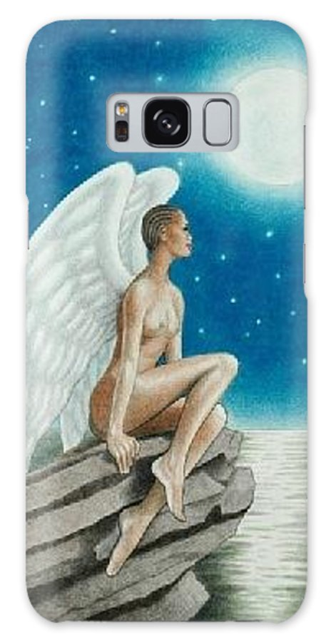 Angel Galaxy S8 Case featuring the drawing Angel In The Moonlight by Jay Thomas II