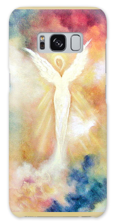 Angel Galaxy S8 Case featuring the painting Angel Light by Marina Petro