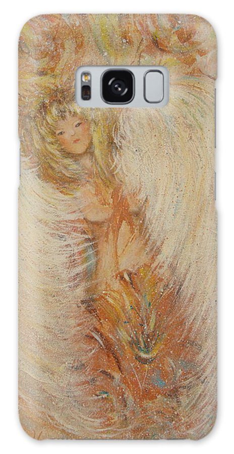 Angel Galaxy S8 Case featuring the painting Angel Loves You by Natalie Holland