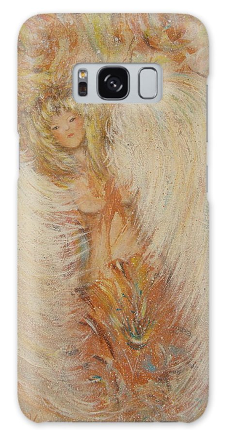 Angel Galaxy Case featuring the painting Angel Loves You by Natalie Holland