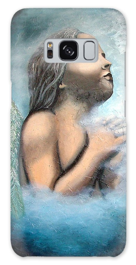 Angel Galaxy S8 Case featuring the painting Angel Of Faith by Elizabeth Lisy Figueroa